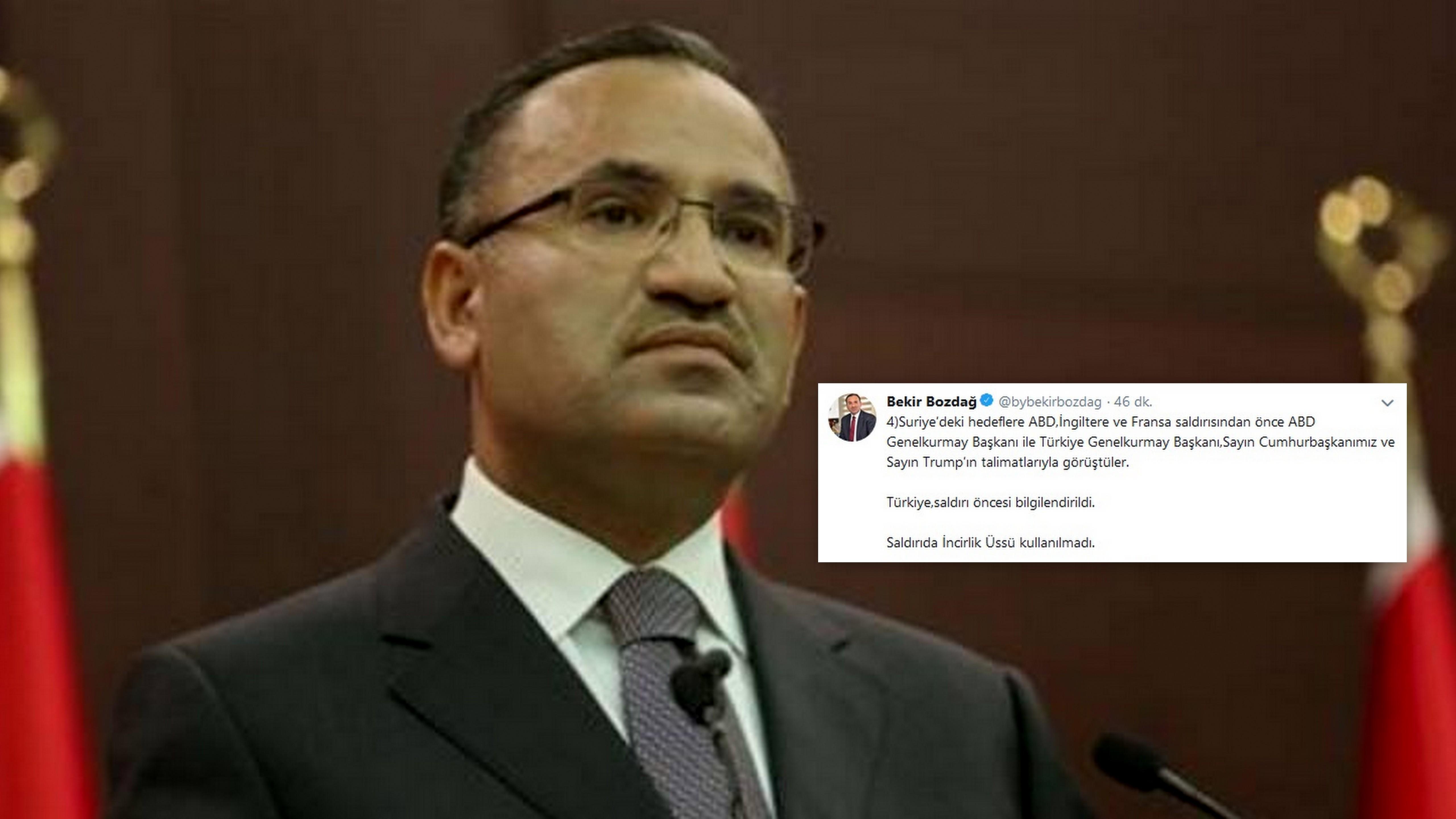 Bozdağ;'Türkiye, saldırı öncesi bilgilendirildi'