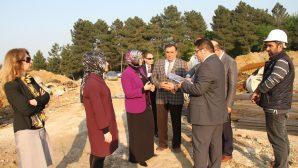 İl Milli Eğitim Müdürü Fazilet Durmuş okul inşaatlarını gezdi