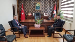 İl Jandarma Komutanı J.Alb.Cengiz Yiğit,Kaymakam Yazıcı ile görüştü