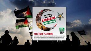'İsrail'e Lanet Filistin'e Destek'