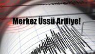 Arifiye'de deprem