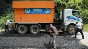 Arifiye ile birlikte 7 ilçede 15 bin 300 ton sıcak asfalt