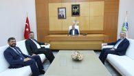 Başkan Toçoğlu, SAÜ Rektörlüğü'ne atanan Prof. Dr. Fatih Savaşan ile bir araya geldi.