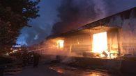 Hanlı 1.OSB'de fabrika yangını