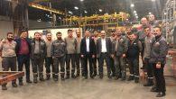 Sendika Başkanı Olcay Meriç,Otokar Fabrikasındaki işçileri ziyaret etti