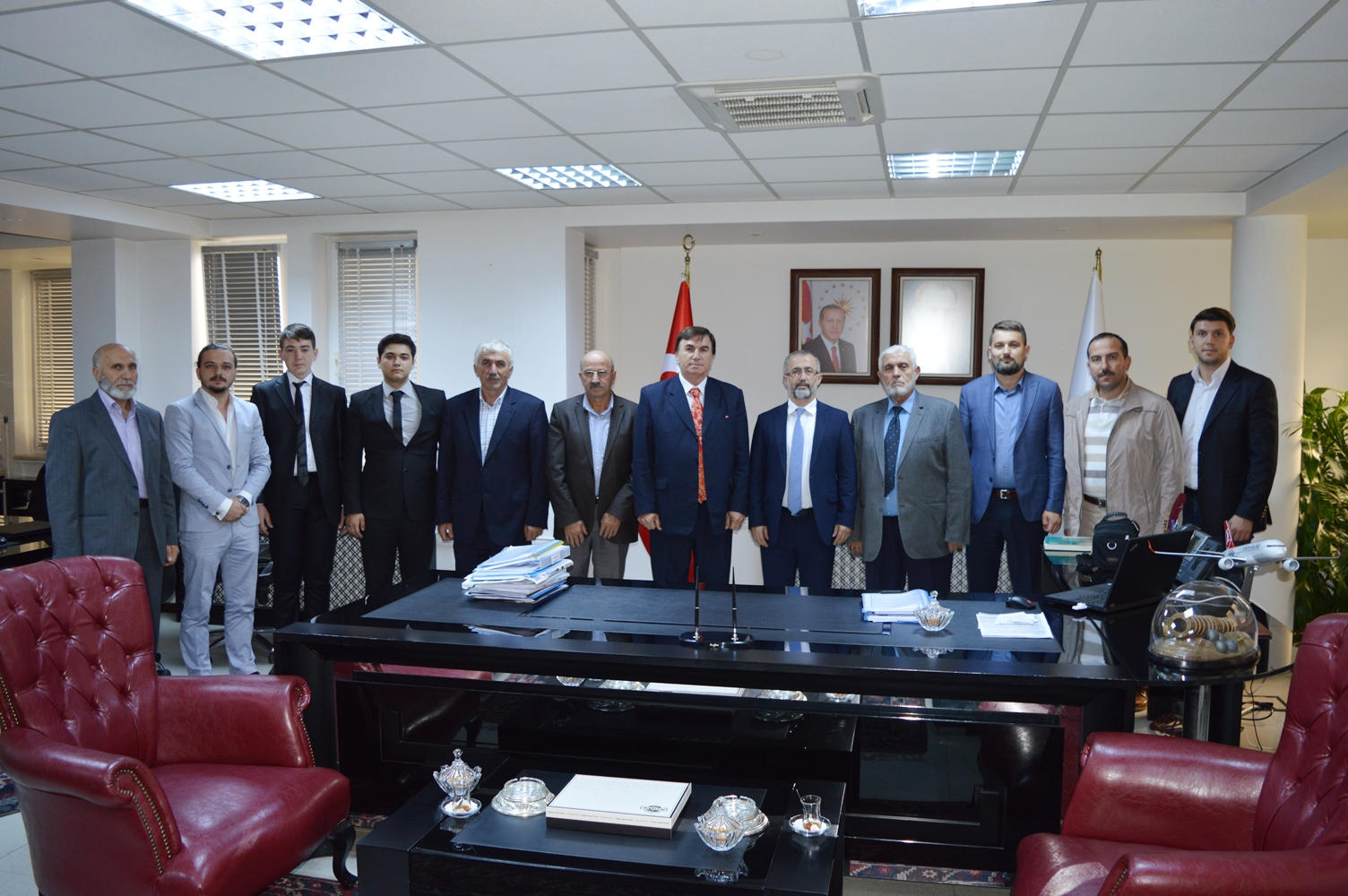 Türkiye Camii ve Kur'an Kursu Dernekleri Federasyonundan Rektör'e ziyaret