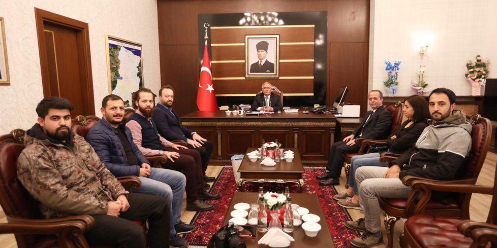 Vali Ahmet Hamdi Nayir'e hayırlı olsun ziyaretleri devam ediyor.