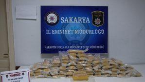 Piyasa değeri 700 bin TL olan eroin ele geçirildi.