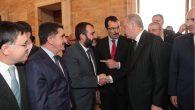 Sakaryaspor Kulüp Başkanı Cevat Ekşi, Cumhurbaşkanı Erdoğan ile görüştü.