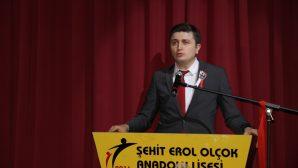 Aday öğretmenler adına Arifiye'den Fatih Torun kutlamalarda konuştu
