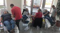 Kan Bağışına Hastane personeli destek verdi