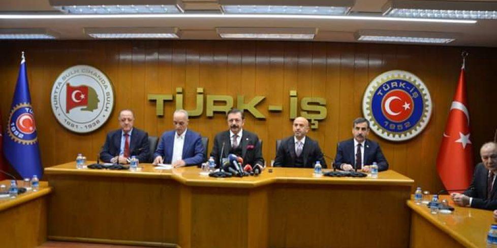 STK'LARDAN  TÜRK-IŞ'E  DESTEK ZİYARETİ