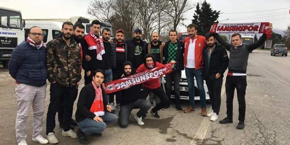 Samsunspor taraftarını Arifiye'de karşıladılar