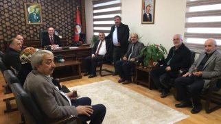 Başkan ve Meclis Üyelerinden Kaymakam DINKIRCI'ya ziyaret