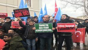 Çin'in Doğu Türkistan zulmüne tepki