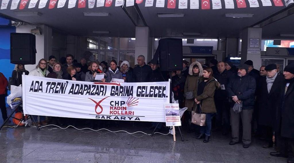 CHP İl Kadın Kolları'nın ''Trenimizi istiyoruz' eylemleri devam ediyor