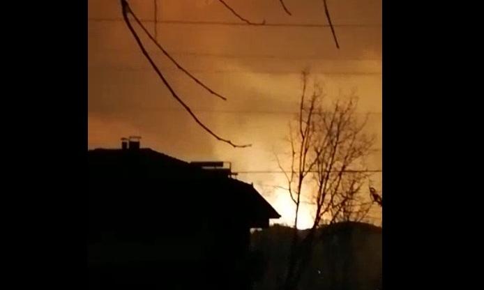 Patlama sonrası çekilen görüntüler