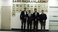 Baro Başkanı Burak'a hayırlı olsun ziyaretleri devam ediyor