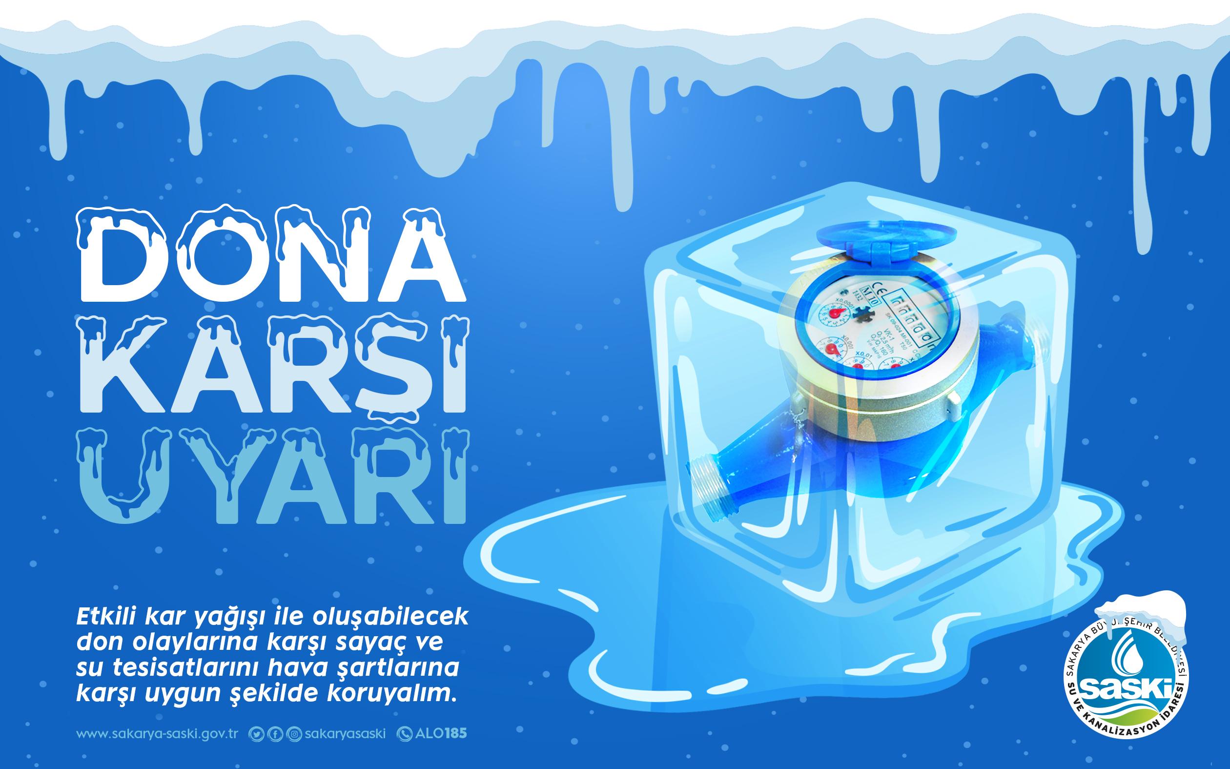 SASKİ'den don uyarısı