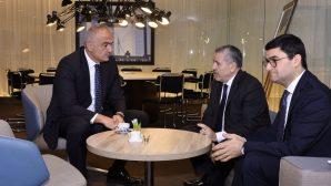 Kültür ve Turizm Bakanı Mehmet Ersoy,Lahey Büyükelçisi Şaban Dişli ile görüştü.