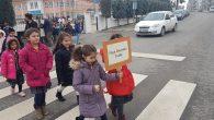 Neviye İlkokulu'nda Trafikte Yaya Önceliği Etkinliği