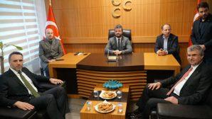 AK Partiden,MHP'ye 50. Kuruluş Yıldönümü ziyareti