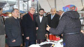 Büyükşehir Başkan Adayı Yüce Arifiye Halk Pazarını gezdi