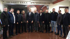 Ak Parti Arifiye'den İl Başkanı TEVER'e ziyaret