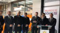 Bakan Fatih Dönmez,seçim irtibat ofisinin açılışını yaptı