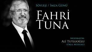 Fahri Tuna'dan Şanlıurfa'da söyleşi imza günü