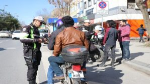 Kurallara uymayan motosikletler otoparka