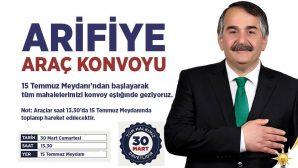 Ak Partiden Arifiye Araç Konvoyu