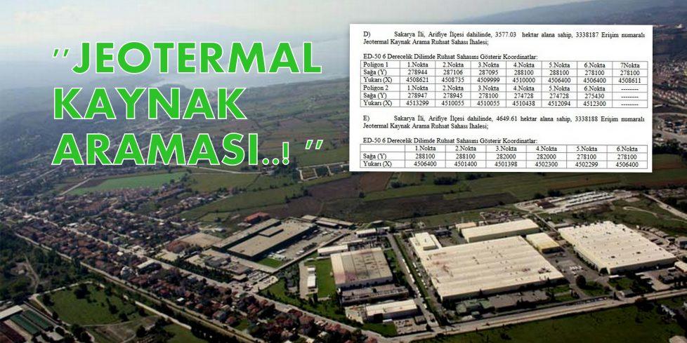 Arifiye'de Jeotermal Kaynak aranacak!