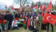 Filistinli Öğrenciler Fidan Dikti