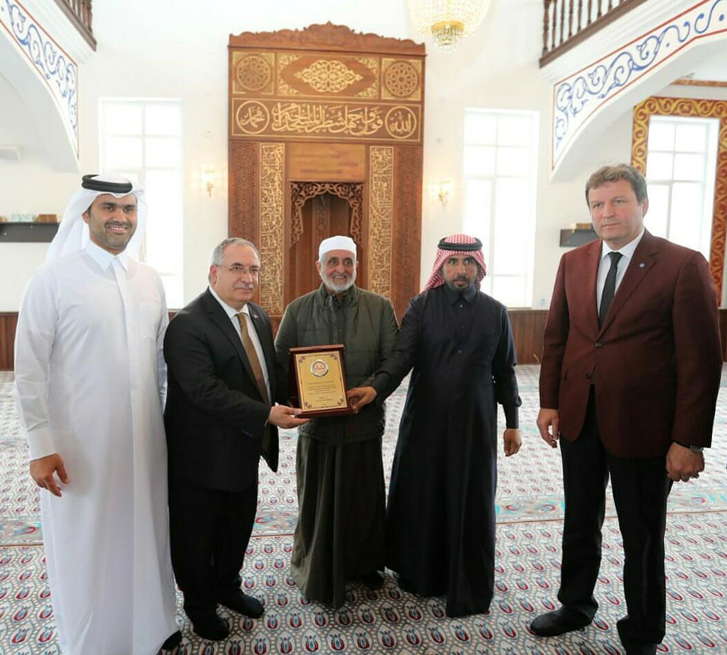 Katarlı hayırsever iş adamı cami yaptırdı.