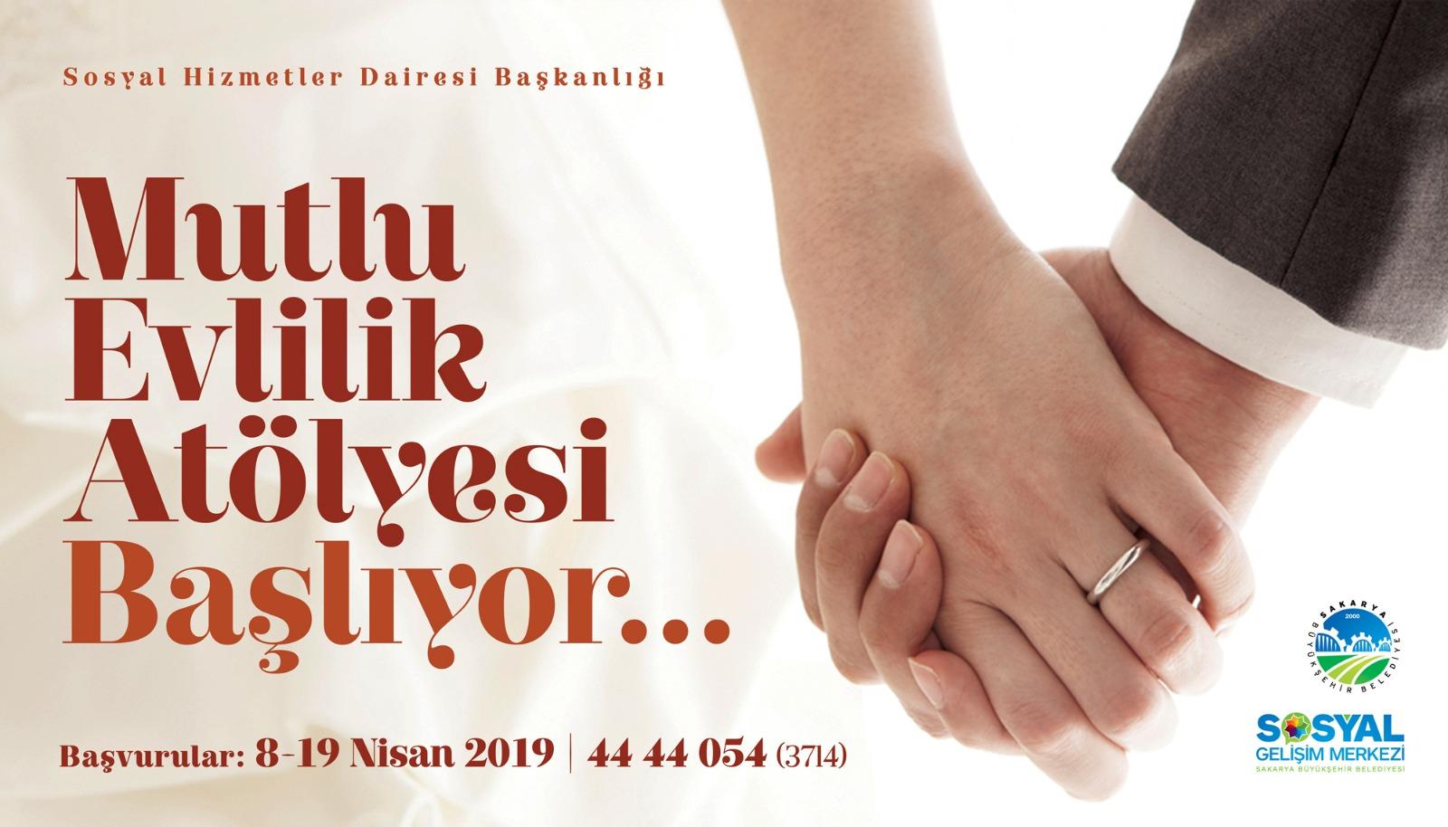 Mutlu evliliğin temeli SGM'de atılacak