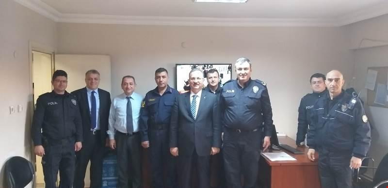 """İlçe Emniyet Müdürlüğümüze """"Polis Haftası"""" Ziyareti."""