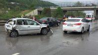 Arifiye TEM'de bir zincirleme kaza daha