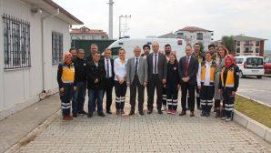 İl Sağlık Müdürü Öğütlü, Arifiye 112 istasyonlarını ziyaret etti