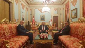 ÇELOĞLU,TBBM BAŞKANI ŞENTOP'U MAKAMINDA ZİYARET ETTİ