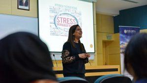 """SAÜ'de """"Stresini Sev"""" adlı bir konferans düzenlendi."""