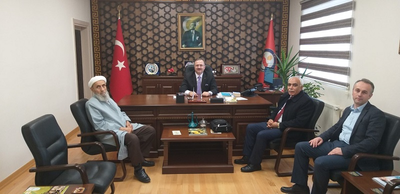 Tarihçi-Yazar Mustafa Turan Kaymakam  Dınkırcı'yı ziyaret etti