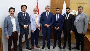Başkan Ekrem Yüce Berberler Odasını ağırladı
