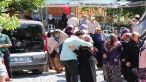 Vatandaşlar Şehid ailesini yalnız bırakmadı.