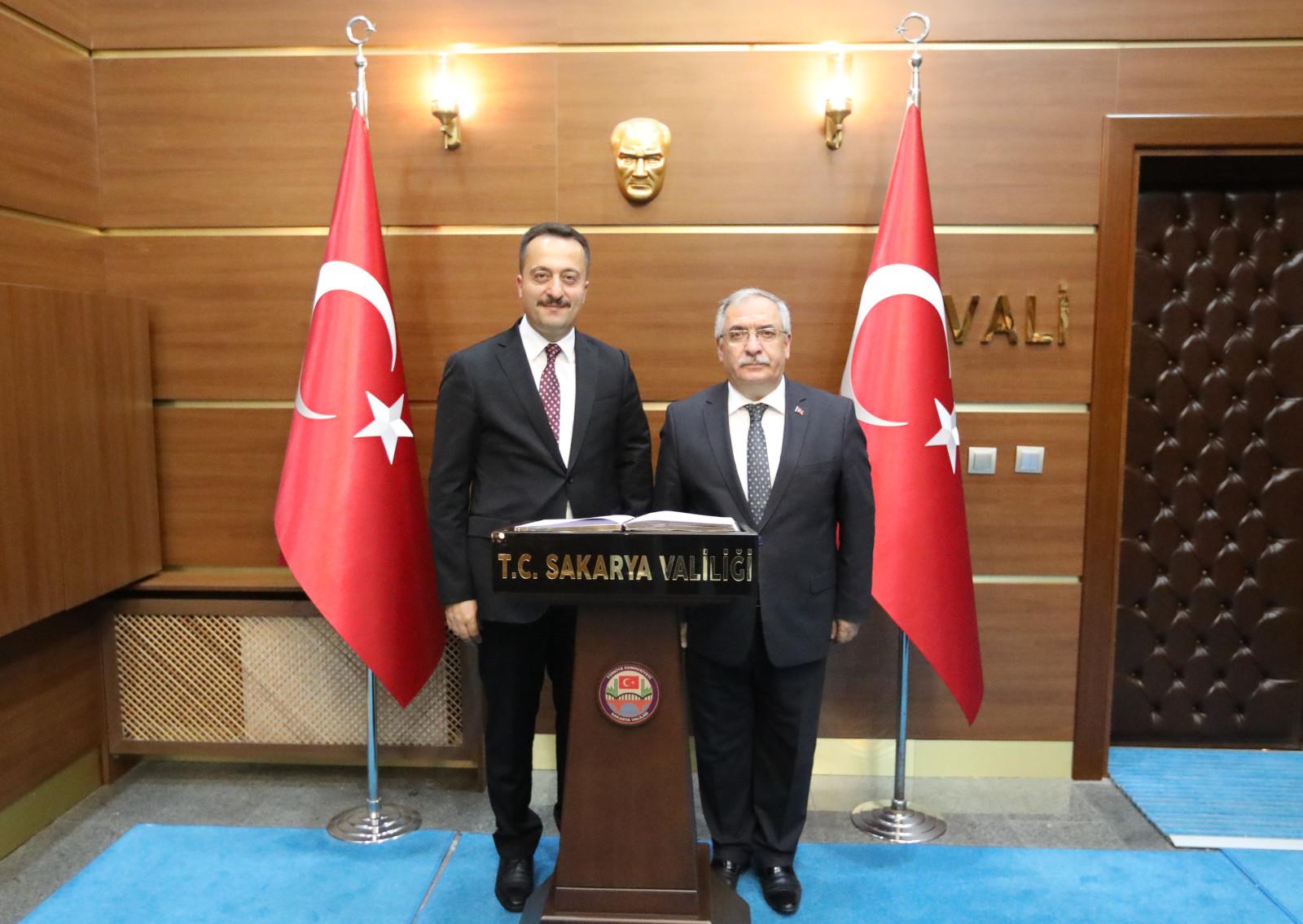 Bilecik Valisi Bilal Şentürk, Vali Ahmet Hamdi Nayir'e ziyaret