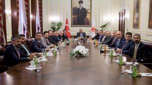 Baro Başkanı Burak Adalet Bakanı Gül'ü ziyaret etti