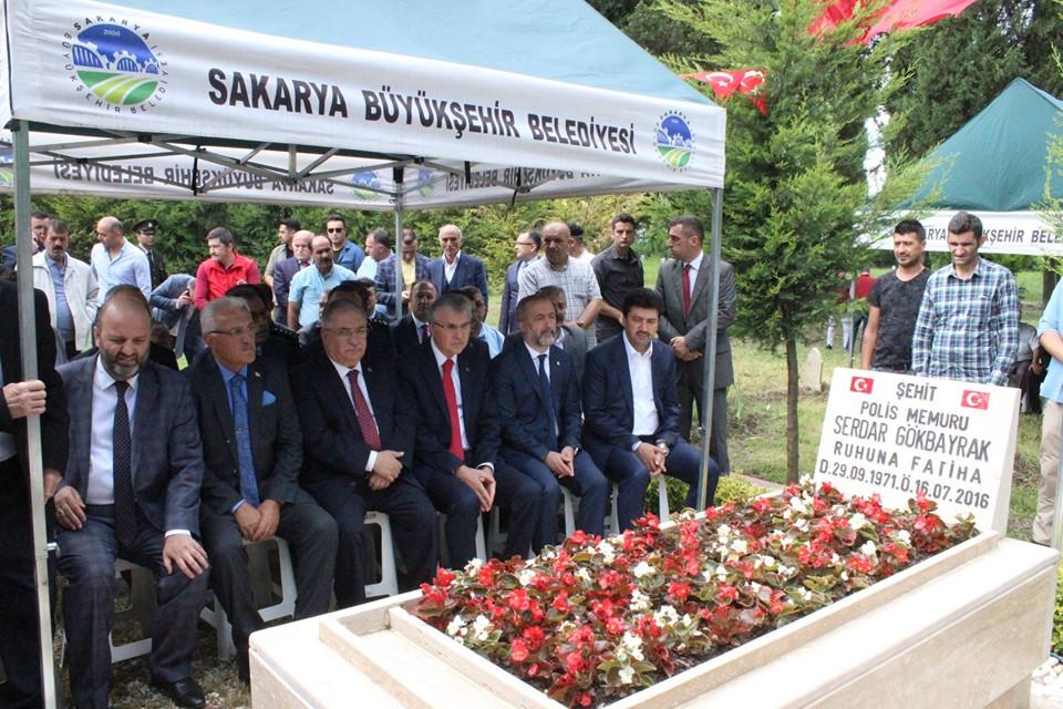 15 Temmuz Şehidi Gökbayrak İlçemizde mezarı başında anıldı