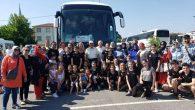 Sakaryalı Minik Halk Oyuncular Festival için Makedonya'ya gitti