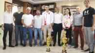 Gençlik ve Spor İl Müdürü Arif Özsoy,  Avrupa Şampiyonunu Ağırladı