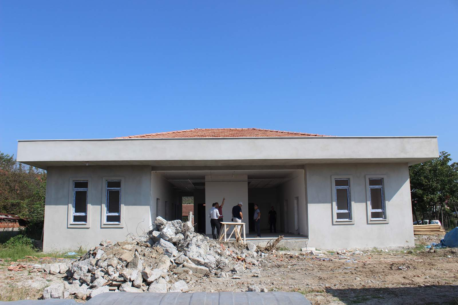 Cumhuriyet Mahallesi Aile Sağlığı Merkezi İnşaatı Hızla İlerliyor…
